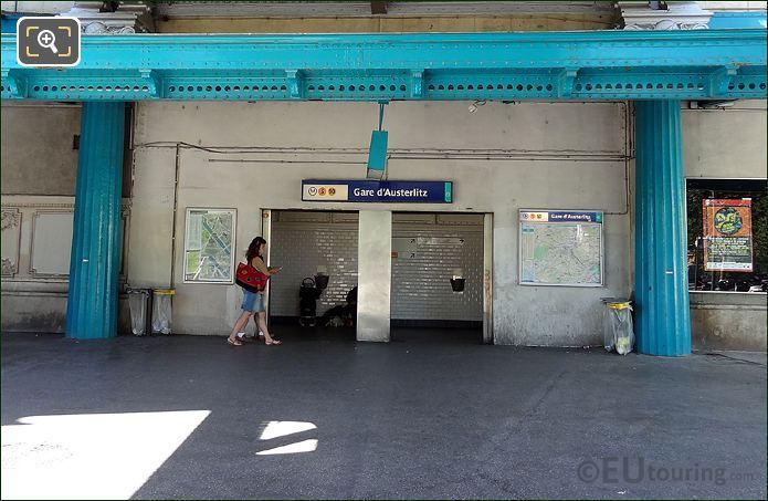Metro Entrance Gare d Austerlitz