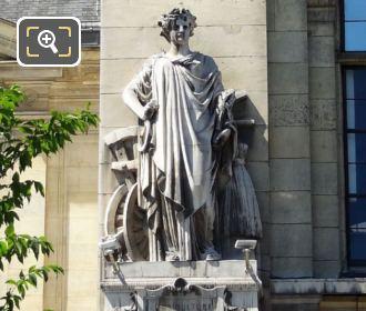 Gare d Austerlitz l Agriculture Statue