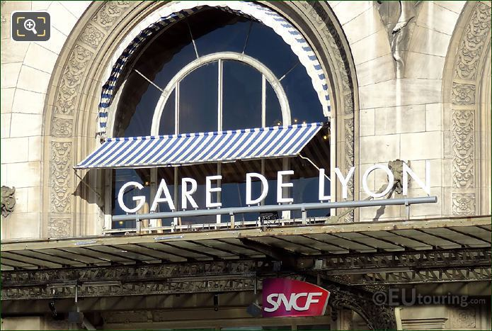 Gare De Lyon Main Entrance Sign
