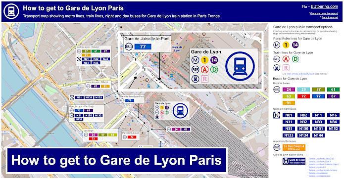 How To Get To Gare De Lyon In Paris Using Public Transport