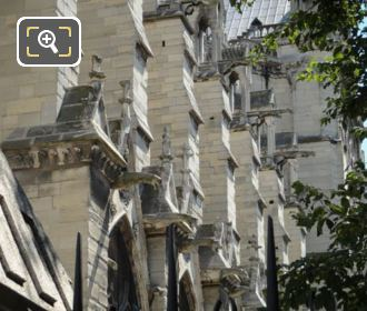 Rows Of Gargoyles Notre Dame Paris