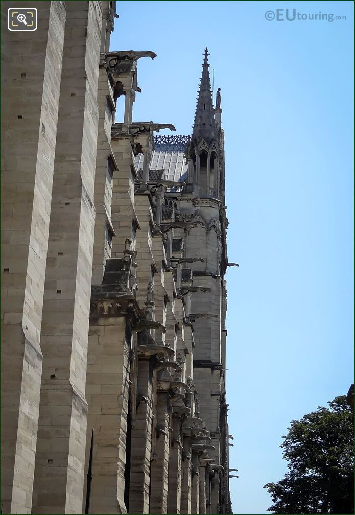 Gargoyle Sculptures South Facade Notre Dame Cathedral