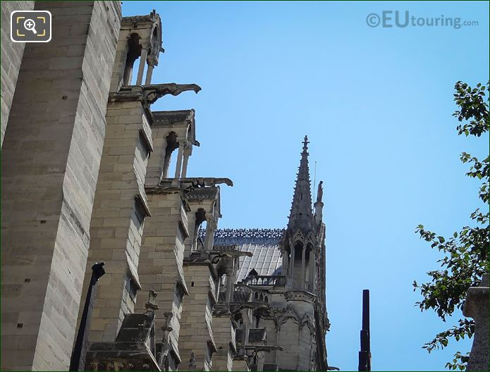 Notre Dames Gargoyles South Side