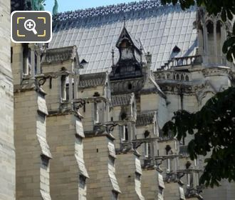 Row Of Gargoyles On Notre Dame Cathedral