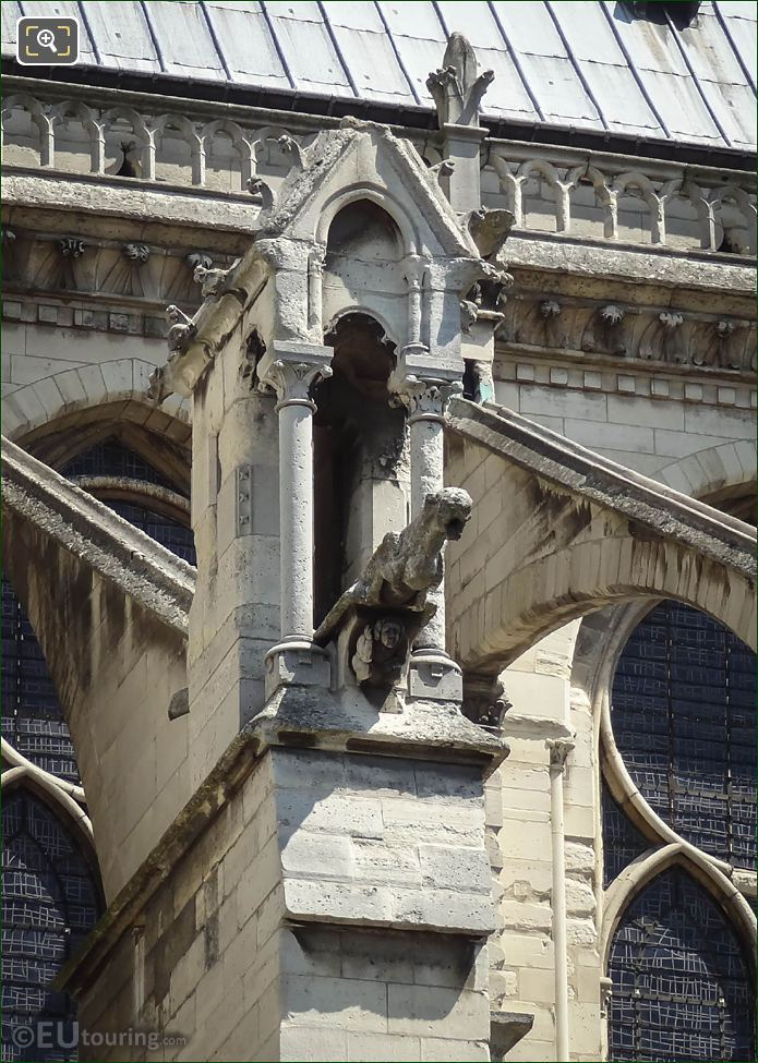 Flying Buttress Gargoyle At Notre Dame Paris