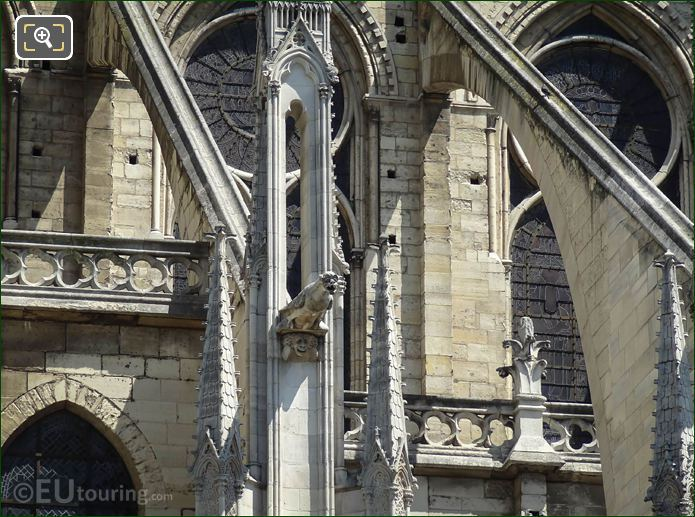 Gargoyle On Flying Buttress At Notre Dame