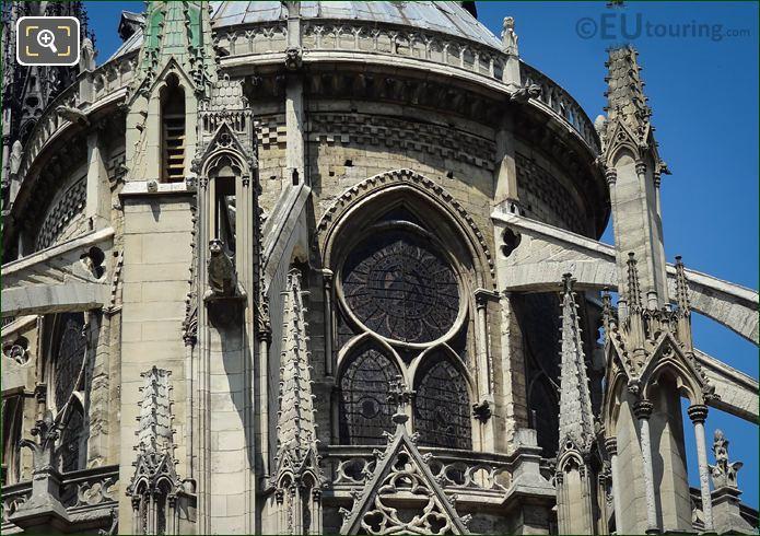 Gargoyles On Eastern Facade Notre Dame Paris