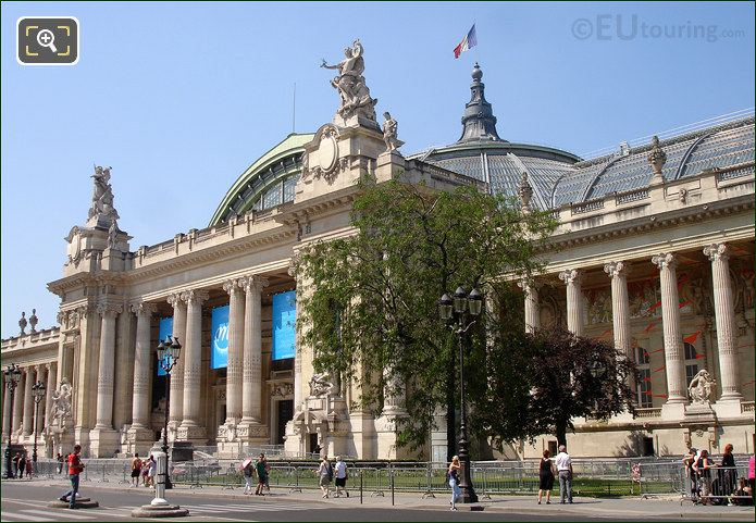 Front Of The Grand Palais And Entrance