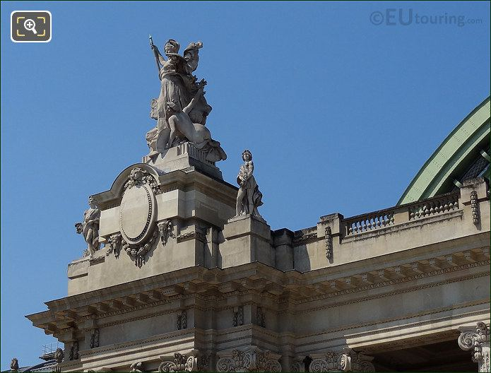 Stone Staues Over Main Entrance Of Grand Palais