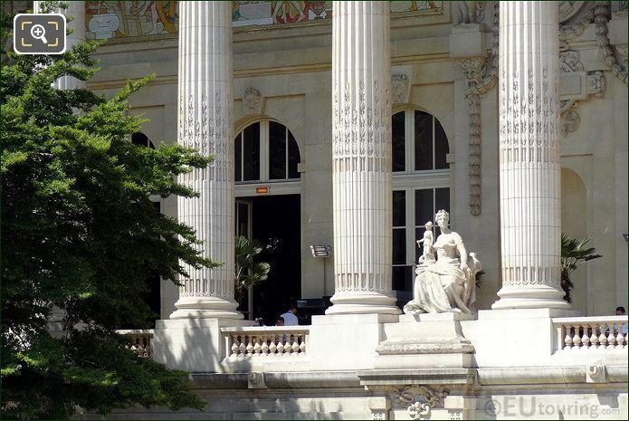Columns And Statues At The Grand Palais