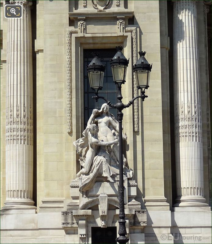 Statues Next To Entrance At The Grand Palais