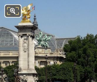 Pont Alexandre III With The Grand Palais