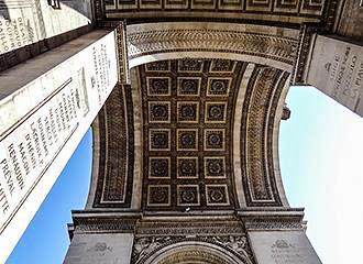 Details Of The Arc de Triomphe