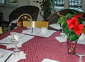 Hotel De La Terrasse Breakfast Table