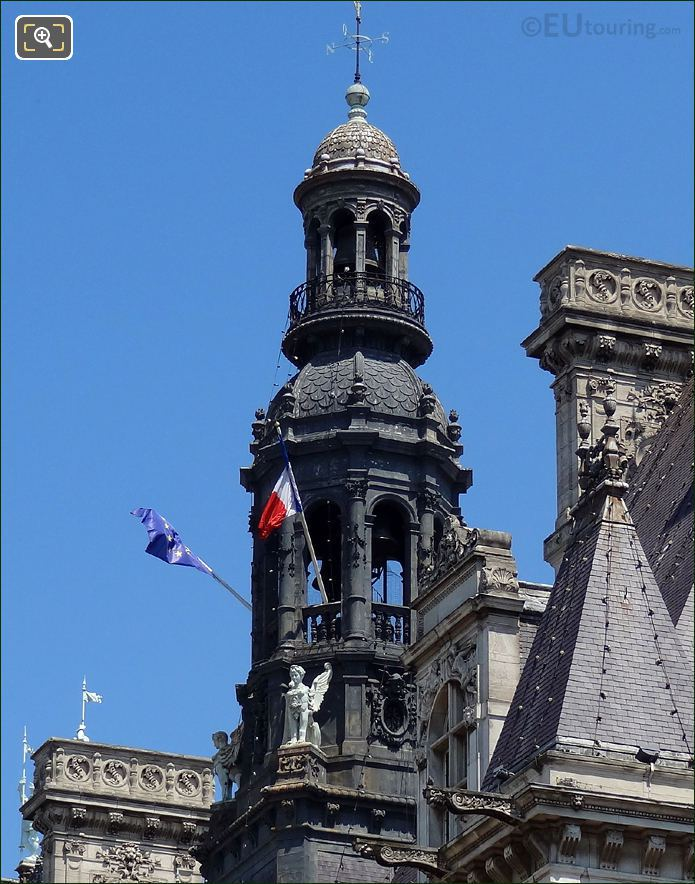 Hotel de Ville Bell Tower And Statues