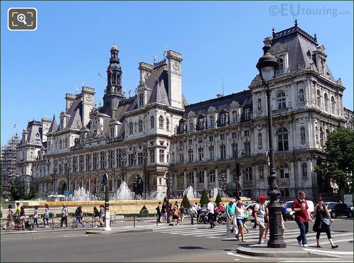 Front Facade Of Hotel de Ville