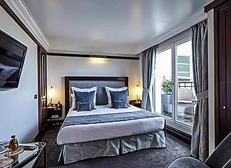 Hotel Pont Royal bedroom