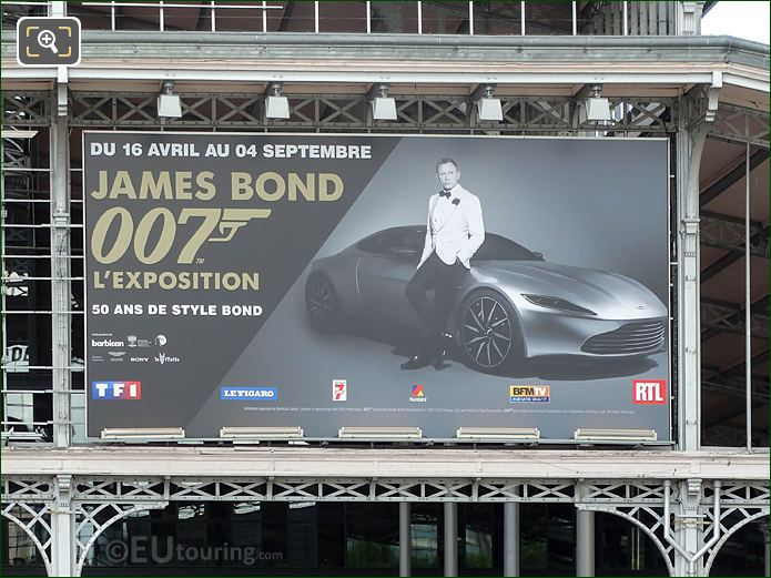 James Bond Exhibition Sign In Paris