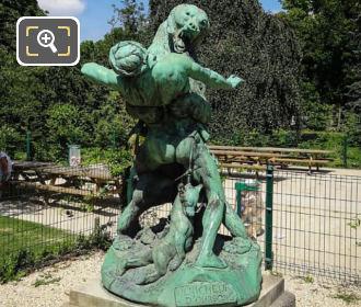 The Bear Cub Thief Statue