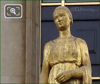 La Campagne Statue On South West Facade Inside Jardins Du Trocadero