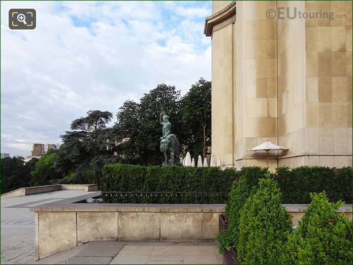View From Esplanade Of The Rights Of Man Within Jardins Du Trocadero Looking South West
