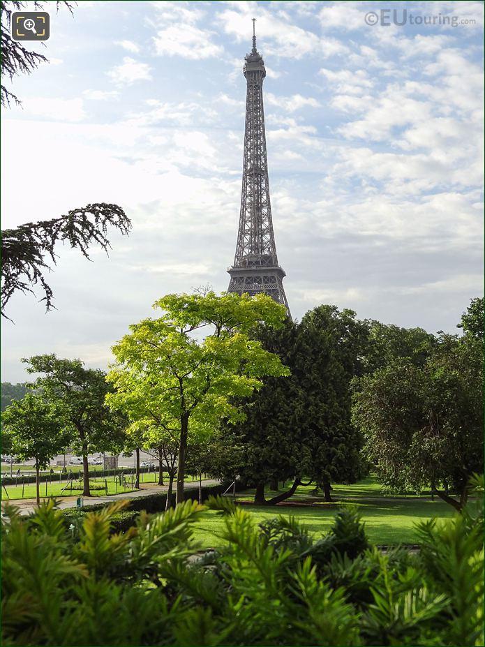Eiffel Tower Viewed From Jardins Du Trocadero Looking South East