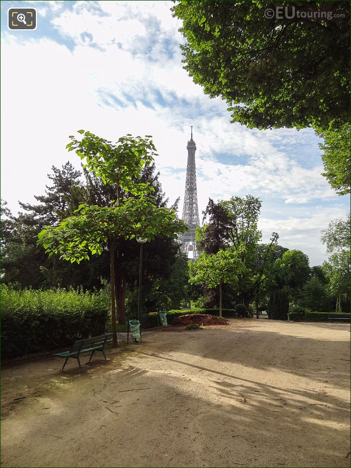 The Eiffel Tower From Jardins Du Trocadero Looking South East