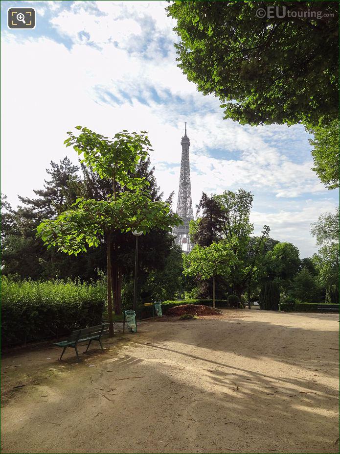 The Eiffel Tower From Jardins Du Trocadero Looking South East