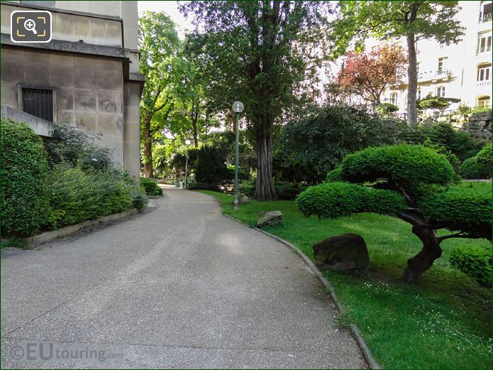 Pathway Around Passy Wing In Jardins Du Trocadero Looking South West