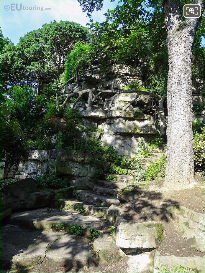 Stone Steps And Walkway In Jardins Du Trocadero Looking South West