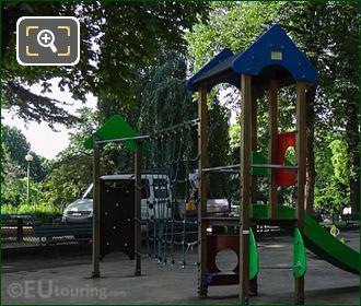 Small Childrens Slide Inside Jardins Du Trocadero Playground