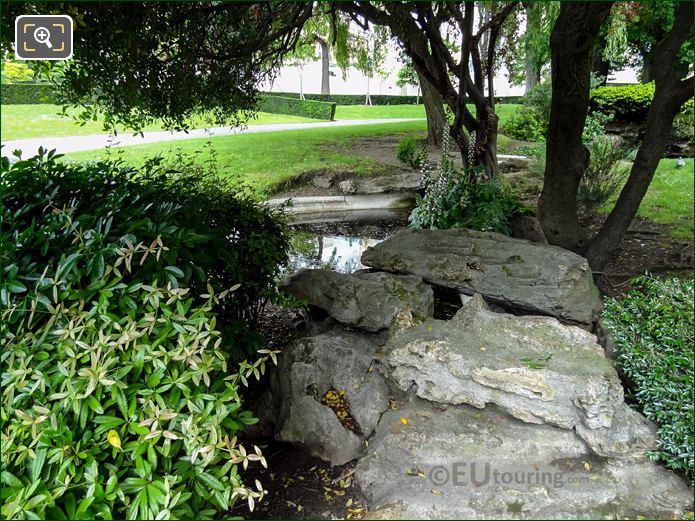 Water Feature With Rockery In Jardins Du Trocadero Looking North
