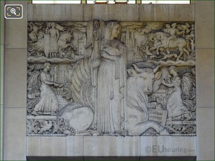 Bas Relief Sculpture Within Jardins Du Trocadero Looking South East