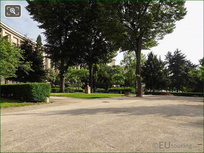 Gravel Pathway And Trees In Jardins Du Trocadero Looking East