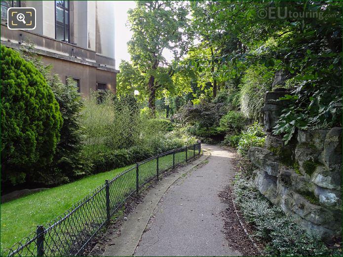 North West Pathway Inside Jardins Du Trocadero Looking South West