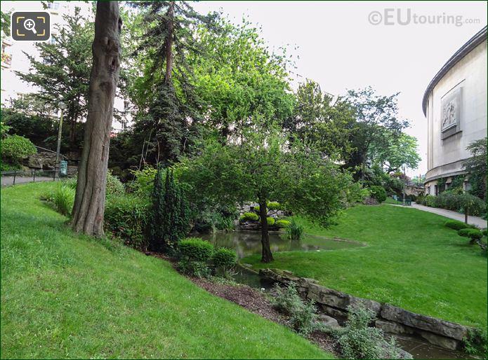 Stream And Pond Within Jardins Du Trocadero Looking North