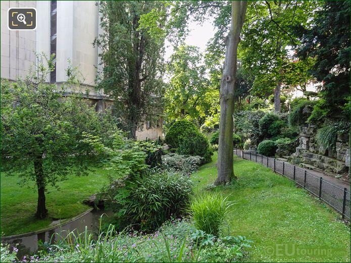 Pond And Stream In Jardins Du Trocadero Looking South East