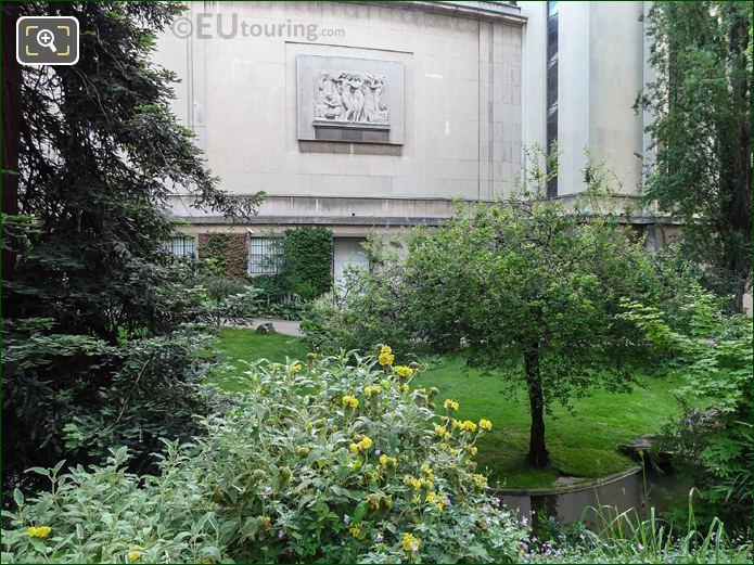 Passy Wing Through Trees In Jardins Du Trocadero Looking East