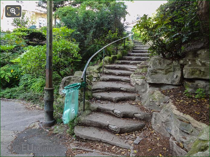 Stone Steps And Pathway In Jardins Du Trocadero Looking South East