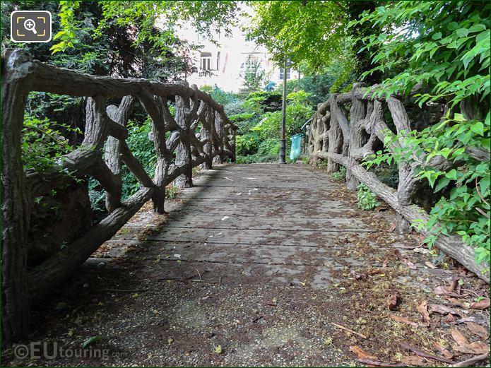 North West Bridge Within Jardins Du Trocadero Looking South