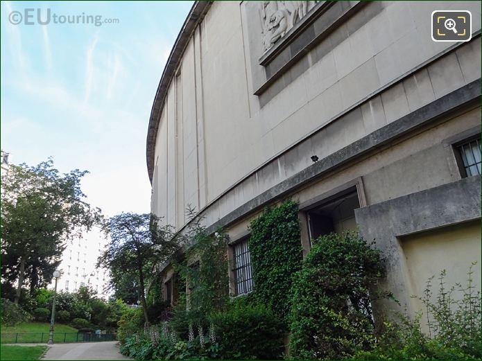 Palais De Chaillot North West Wing In Jardins Du Trocadero Looking North