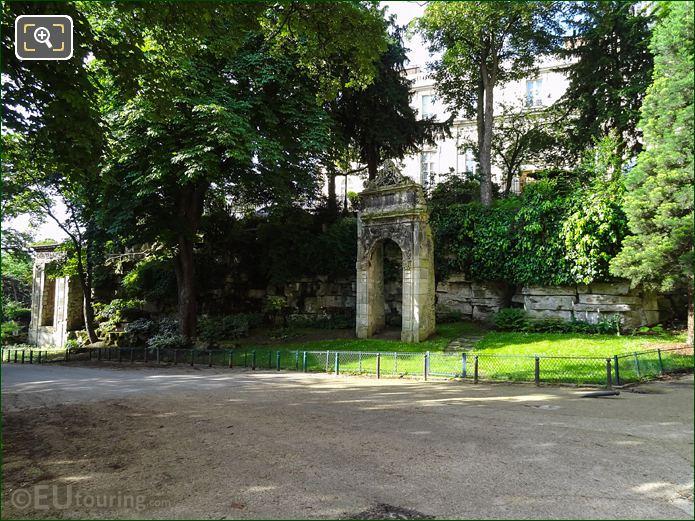 Palais Des Tuileries Vestige Within Jardins Du Trocadero Looking South West