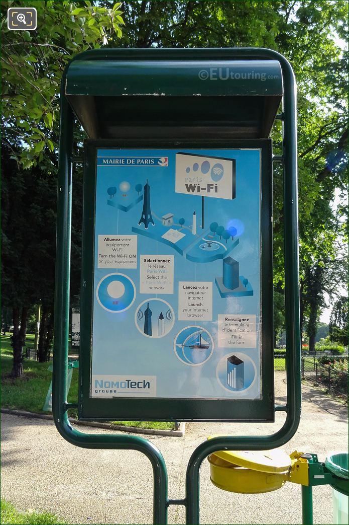 Paris Wi-Fi Info Board Within Jardins Du Trocadero