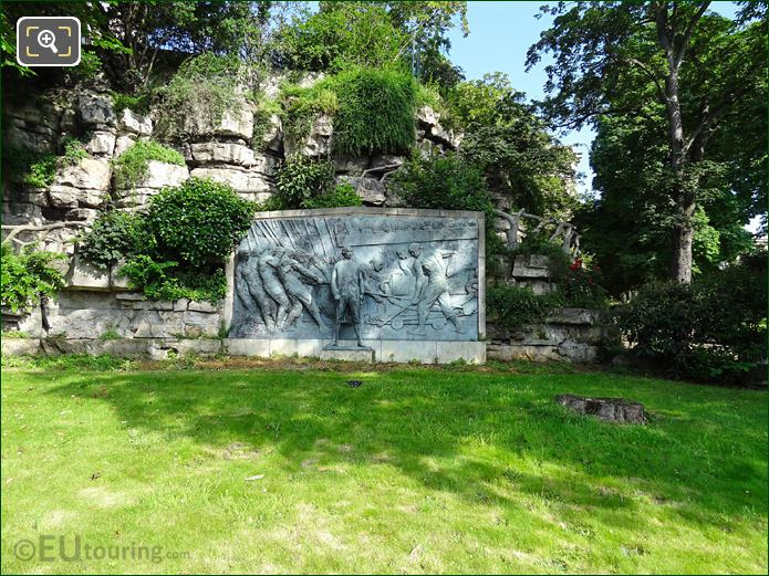 Admiral De Grasse Monument In Jardins Trocadero Looking North West