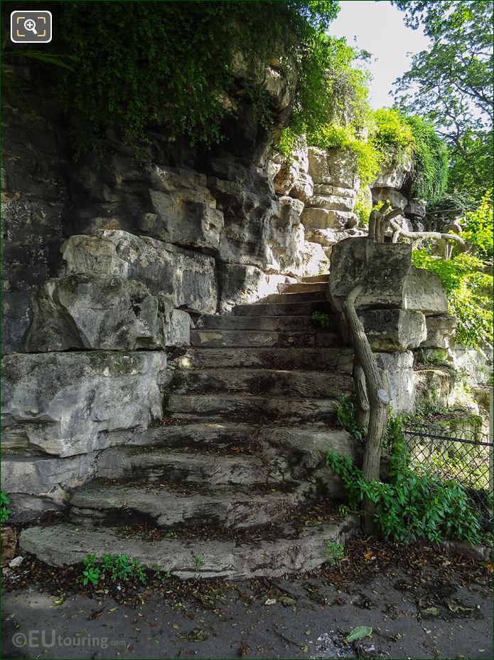 South West Corner Winding Stone Steps In Jardins Du Trocadero