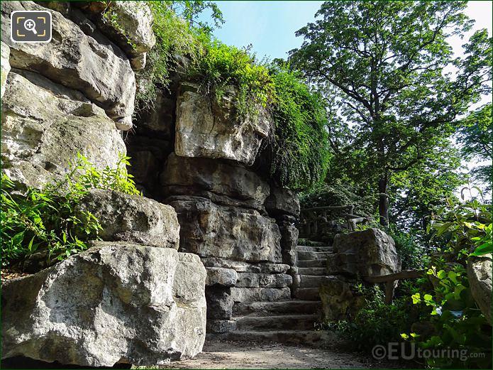 Stone Steps In South West Part Of Jardins Du Trocadero