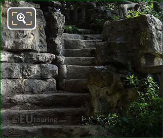 Winding Stone Steps And Pathway In Jardins Du Trocadero