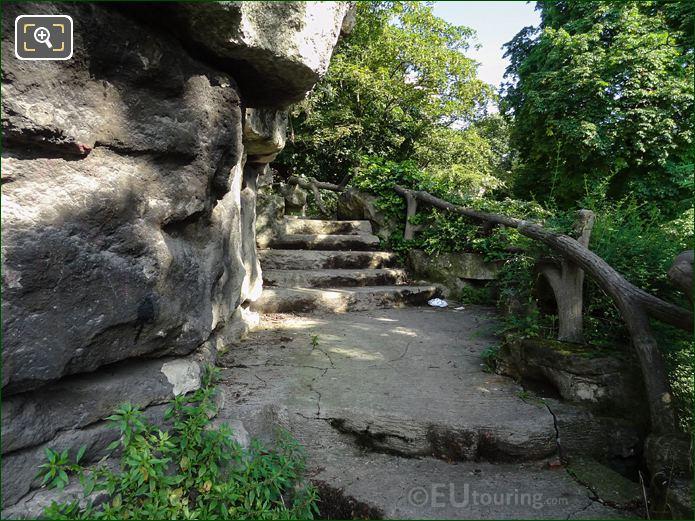Jardins Du Trocadero Winding Pathway And Stone Steps