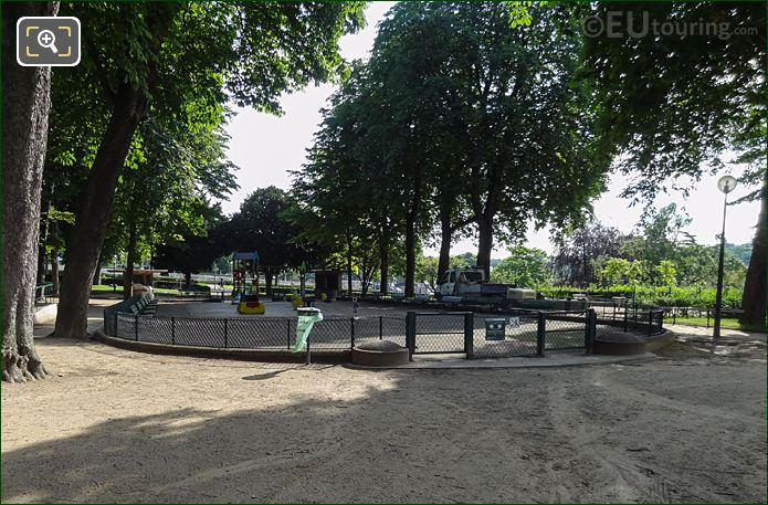 Childrens Playground Inside Jardins Du Trocadero