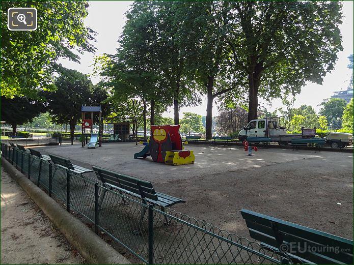 Fence Around Childrens Playground Inside Jardins Du Trocadero